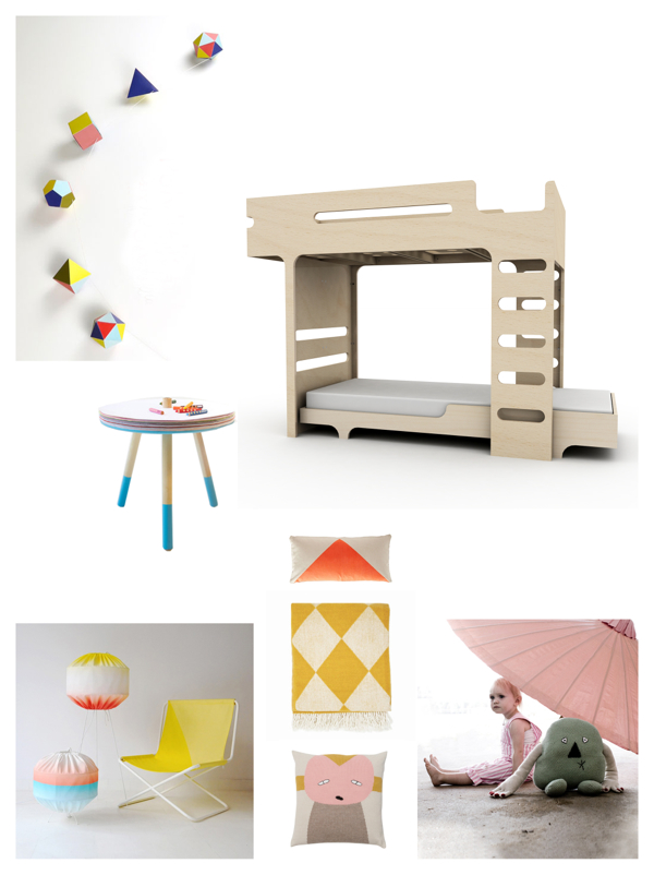 bunk bed room for two children