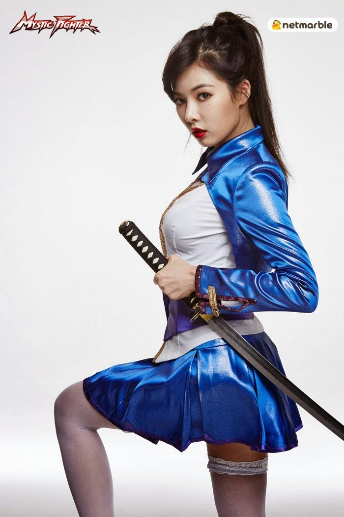 Hyuna 4minute - Mystic Fighter Game