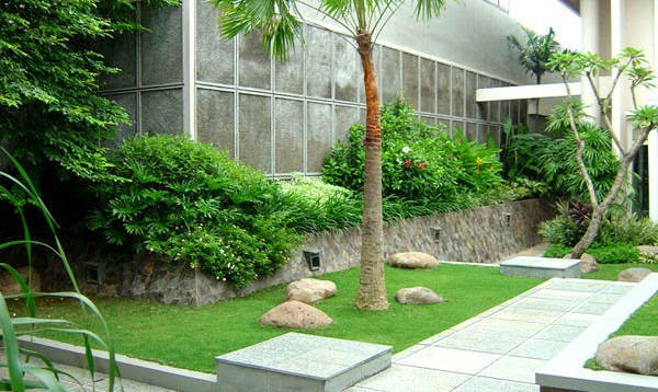 Jasa pembuatan taman minimalis | taman rumahan | taman kota | jasa tanam rumput dan desighn taman