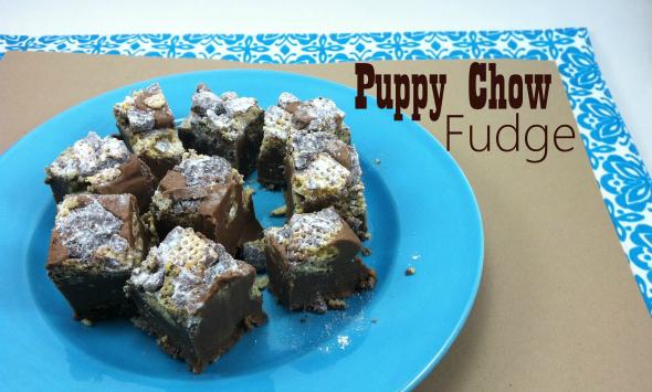 Puppy Chow Fudge