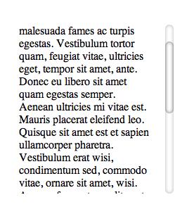 Tampilan Kustomisasi Sederhana Scrollbar