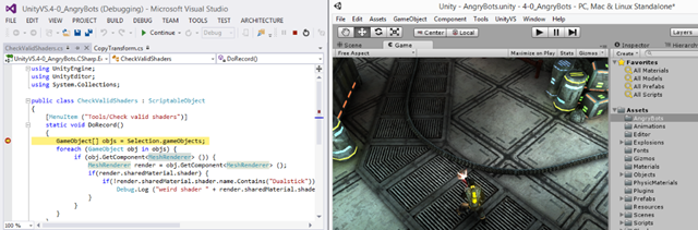 visual studio for unity