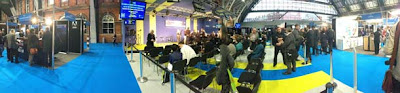 Panoramic inside BVE North in Manchester
