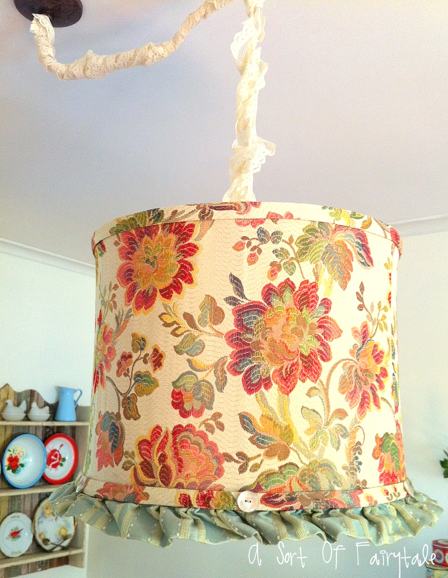 A sort of fairytale diy pendant lampshade fixture diy pendant lampshade fixture aloadofball Images