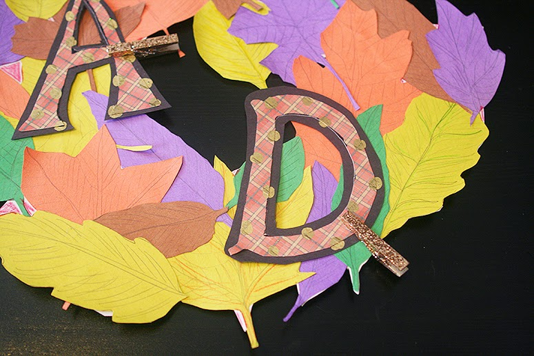 Craft a leaf wreath