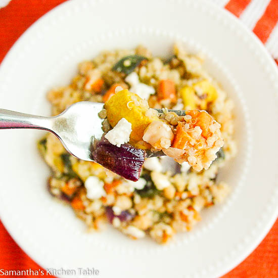 Roasted Veggie Quinoa Salad