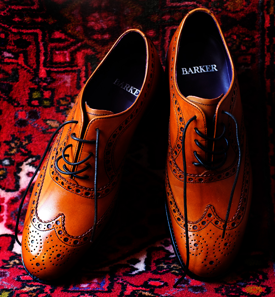 Barker Brogue Shoes - Photgraph by Tim Irving