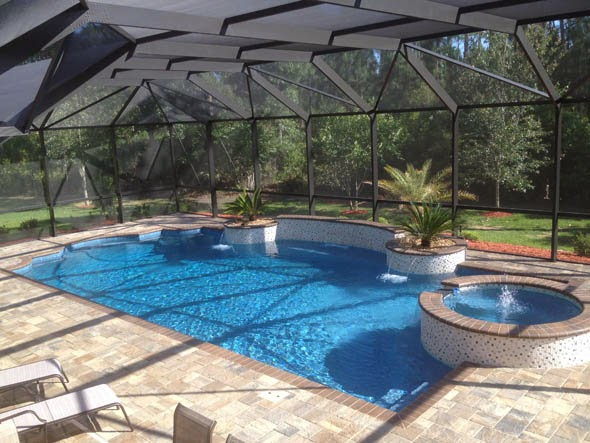 Fiberglass pools pools reinforced plastic garden park for Plastic garden pool