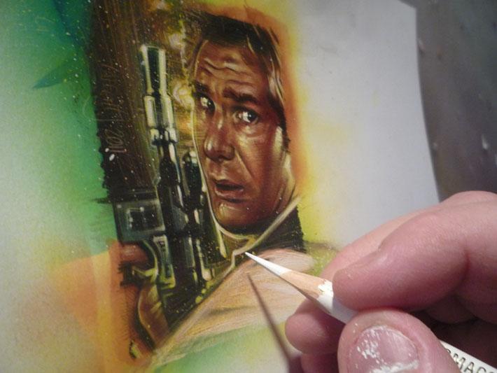 Han Solo Sketch Card by Jeff Lafferty