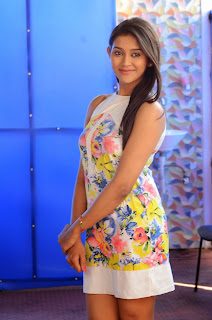 Pooja Jhaveri cute pics in Floral Short Dress lovely new actress Spicy Pics