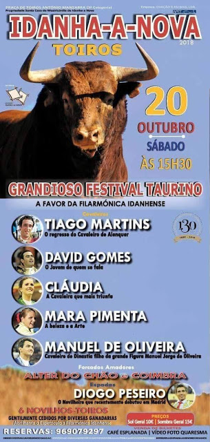 IDANHA A NOVA (PORTUGAL) 20-10-2018. FESTIVAL MIXTO TAURINO.
