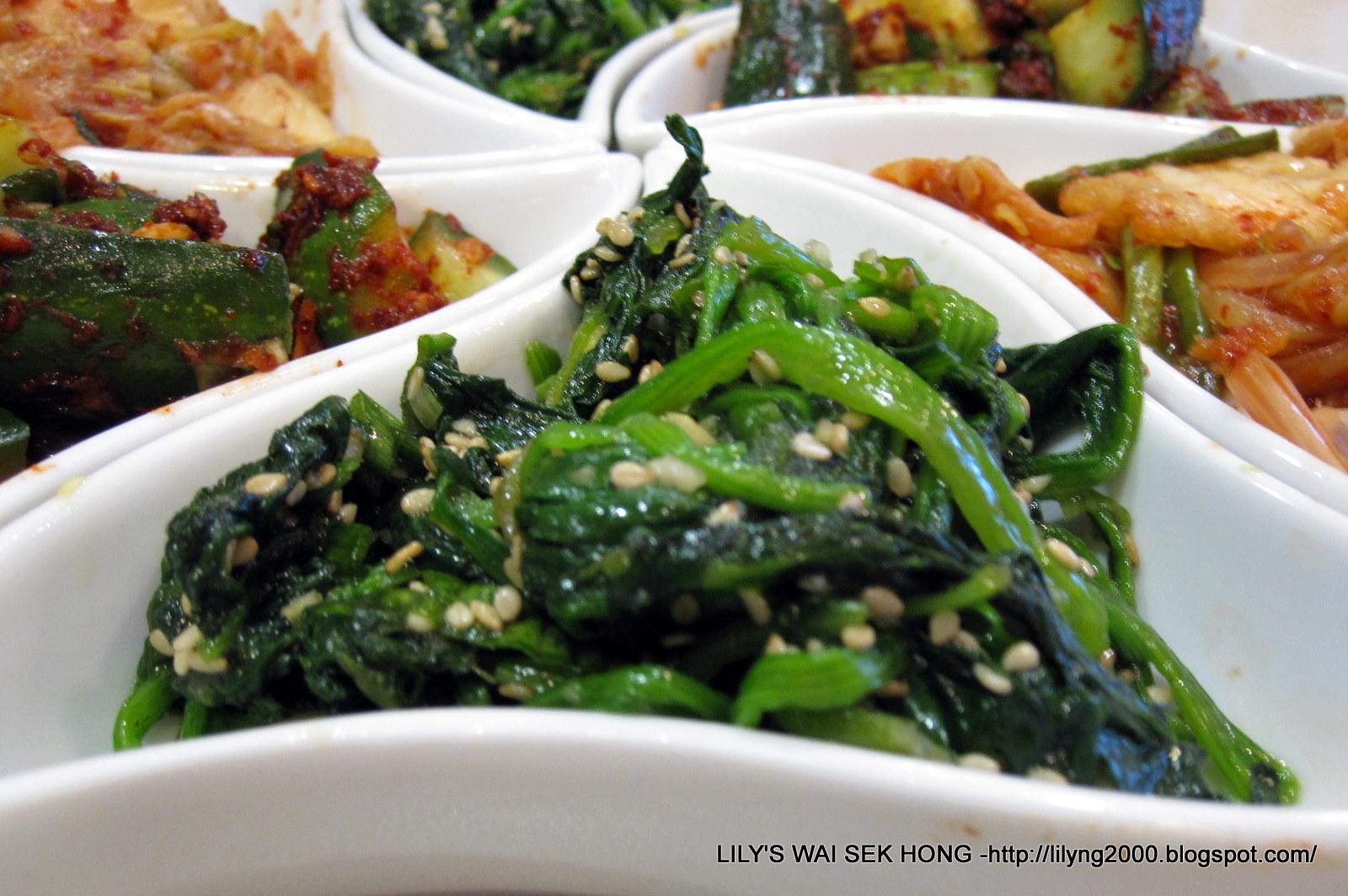... Wai Sek Hong - Favorites: Korean Seasoned Spinach (Sigeumchi Namul