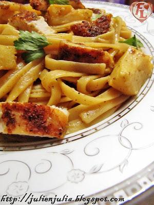Chicken & Artichokes Linguine باستا لينجويني الدجاج والخرشوف (الأرضي شوكي)