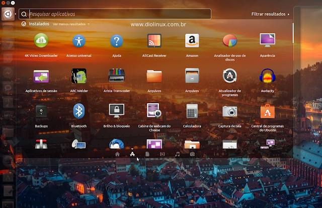 Deixando a pesquisa do Unity Ubuntu mais rápida