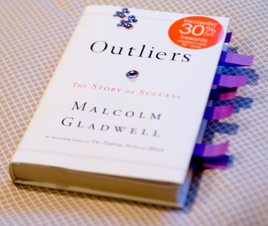 time to read Outliers yourself? Or maybe you actually care what I