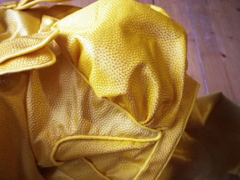 Yellow Taffeta Dress Fashion Show