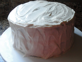 ... when room temperature it is ready to frost with cream cheese frosting