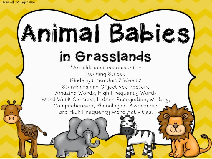 http://www.teacherspayteachers.com/Product/Animal-Babies-in-Grasslands-Kindergarten-Unit-2-Week-3-1322716