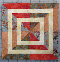 Aurifil free January quilt Block of Month made with batiks from Island Batik and the Crystal Cove Collection