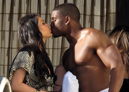 Kardashian Boyfriend on News World And Celeb  Kim Kardashian Boyfriend Reggie Bush Images