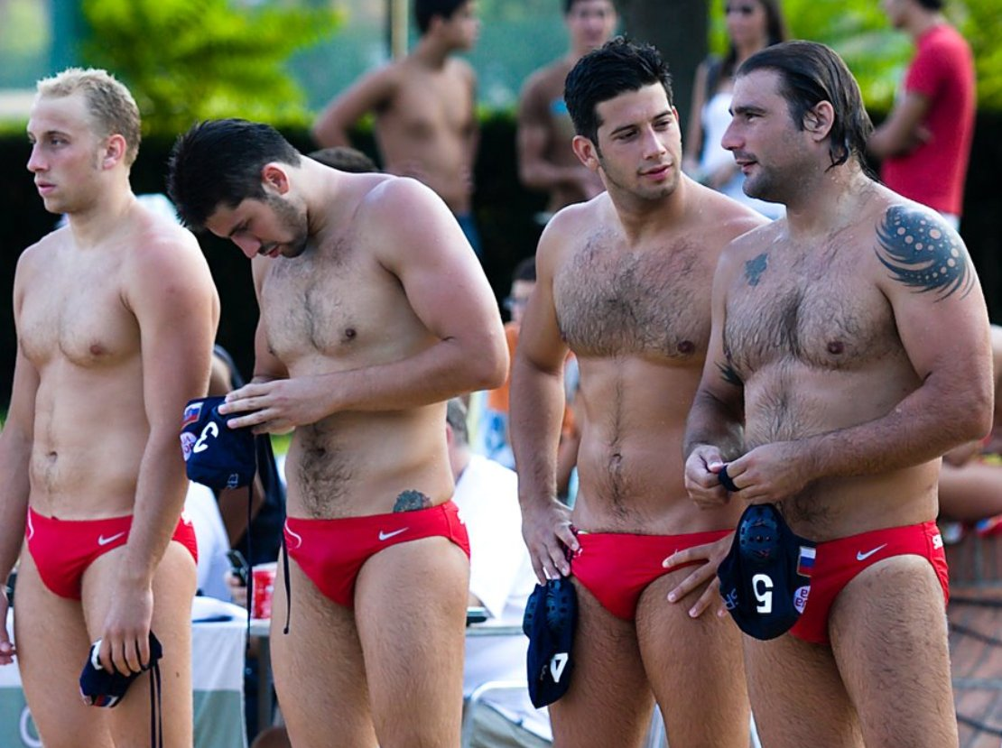 hairy male swimmers