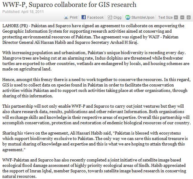 pakistan gis research paper