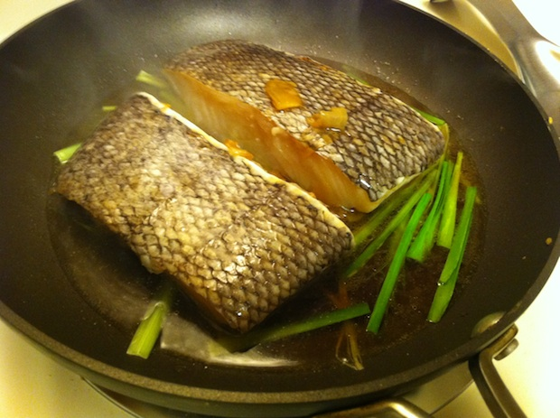 Third Date Cooking: Soy-Glazed, Asian-Style Chilean Sea Bass
