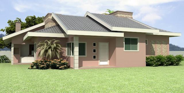 Construindo minha casa clean fachadas com ou sem telhado for Modelo de casa tipo chalet