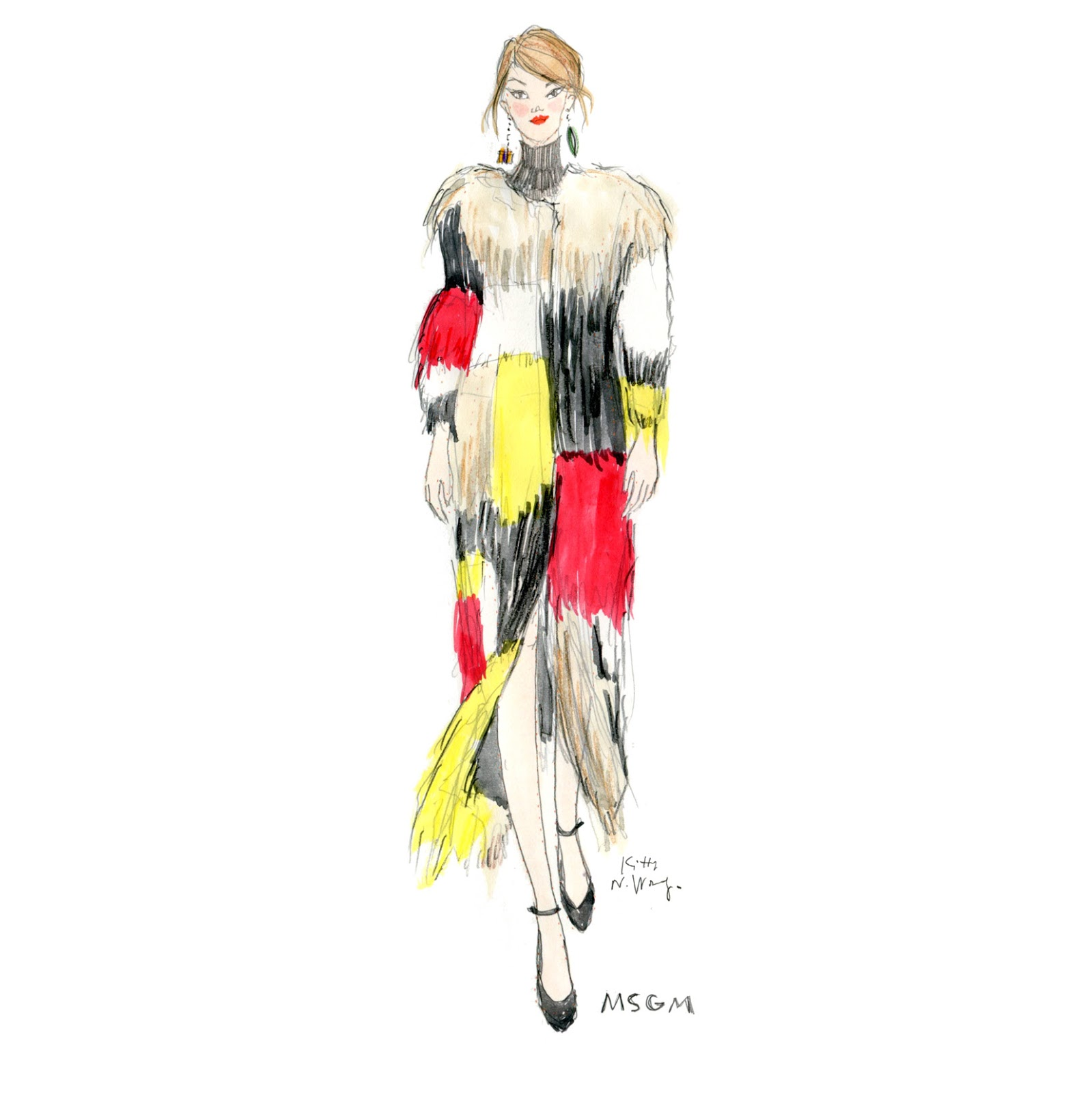 Kitty N. Wong / Fashionary MSGM Sketch
