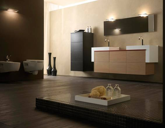 Baño Chocolate Blanco:Baños de color marrón chocolate – Colores en Casa