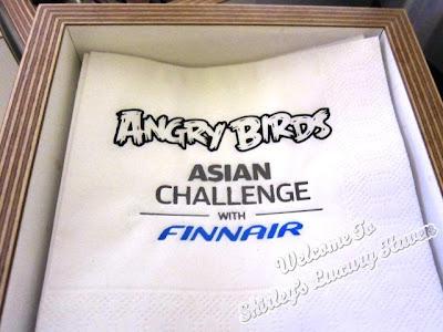 finnair angry birds paper napkins