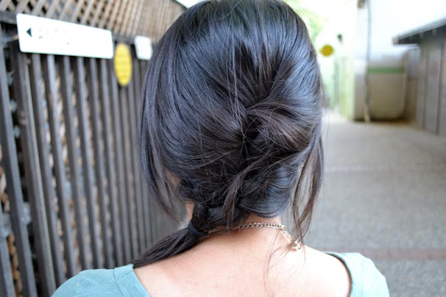 sacramento office fashion blogger angeline evans french braid