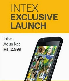 New Launch Intex Aqua KAT Mobile Phone | 2MP Cam | 3G| 1.0 GHz Dual Core for Rs.2699 Only @ ebay (2900 + Phone Sold)