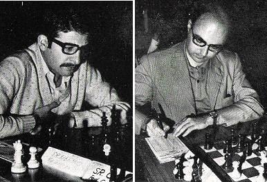 Los ajedrecistas Domingo Merino y Máximo Borrell