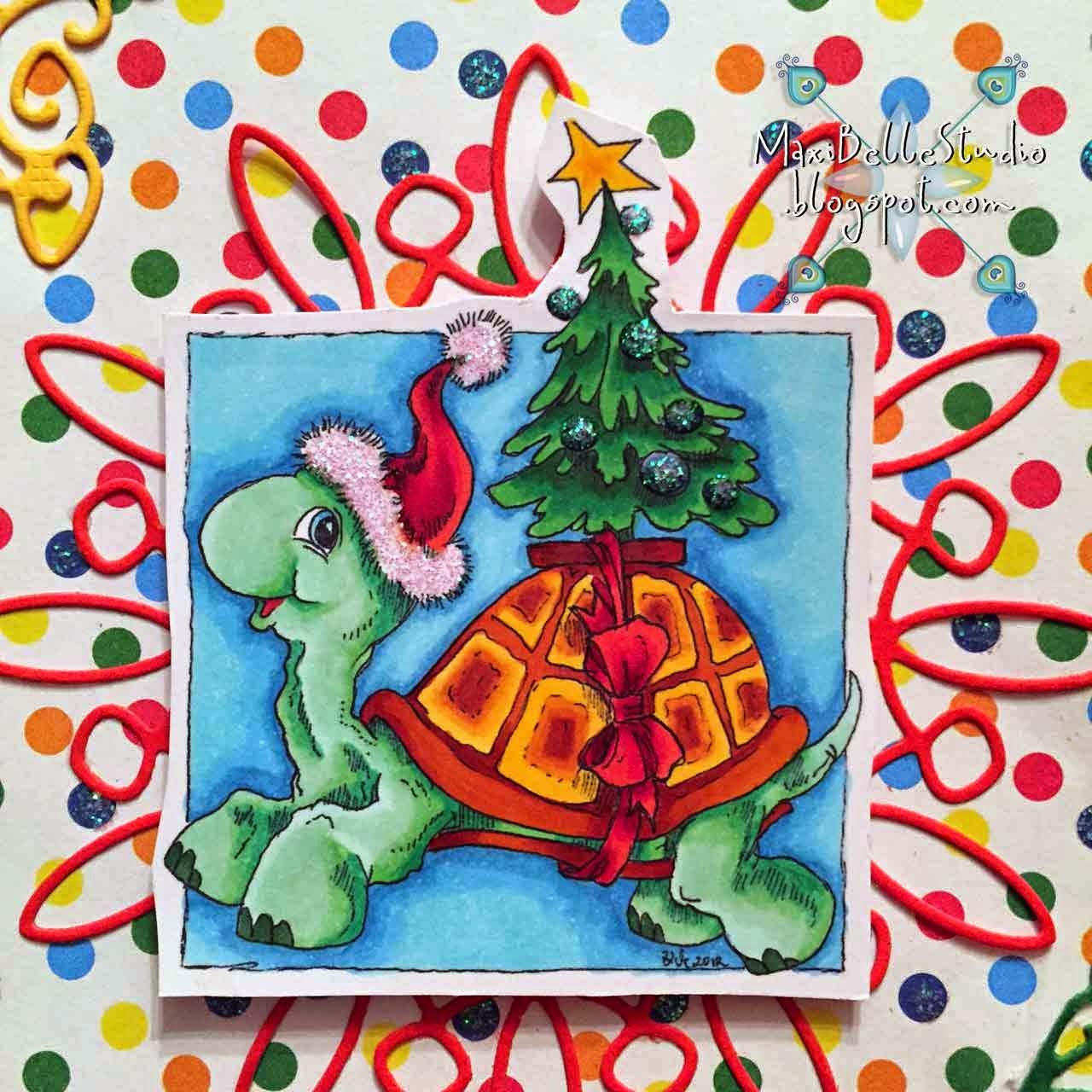 Rick St Dennis Christmas Turtle