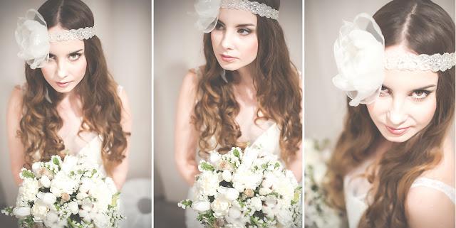 Rozpuszczone włosy na ślubie - romantyczne loki.