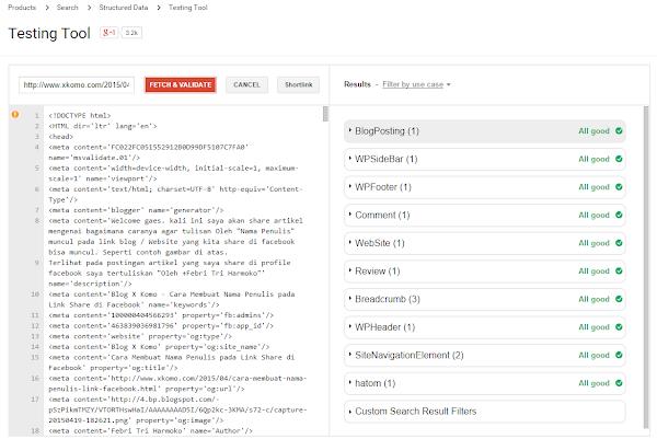 Testing Tool Google untuk Ceck Schema.org Blog Master SEO