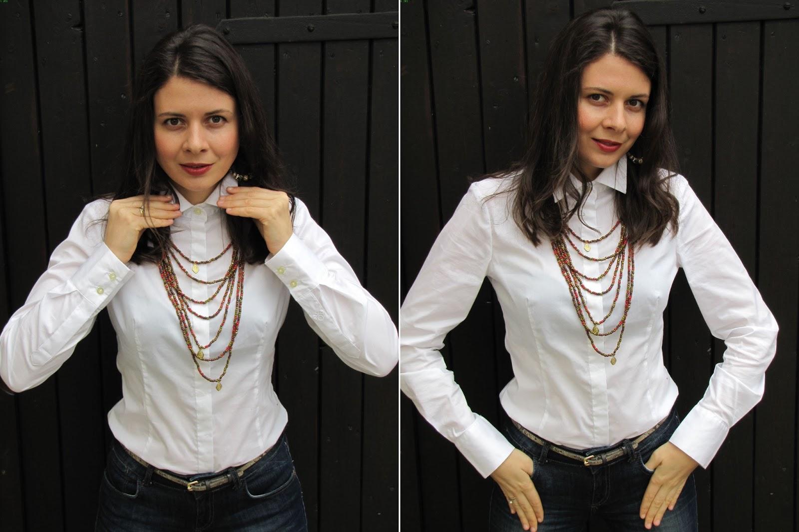 White shirt, wißes Hemd von Benetton
