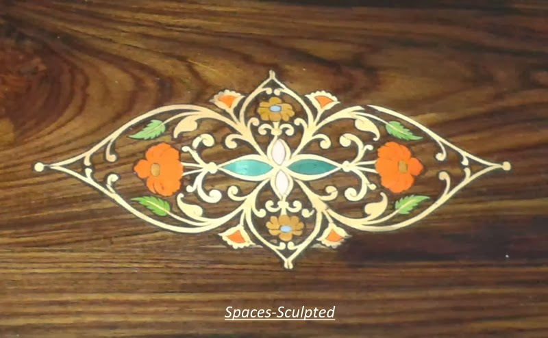Spaces-Sculpted MYSORE MARQUETRYu..Rosewood Inlay Furnitureu.