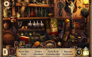 Screenshots of the Salem Lost chronicles for Android tablet, phone.