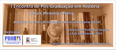 I Encontro de Pós-Graduação em História (UFS/UFPE)