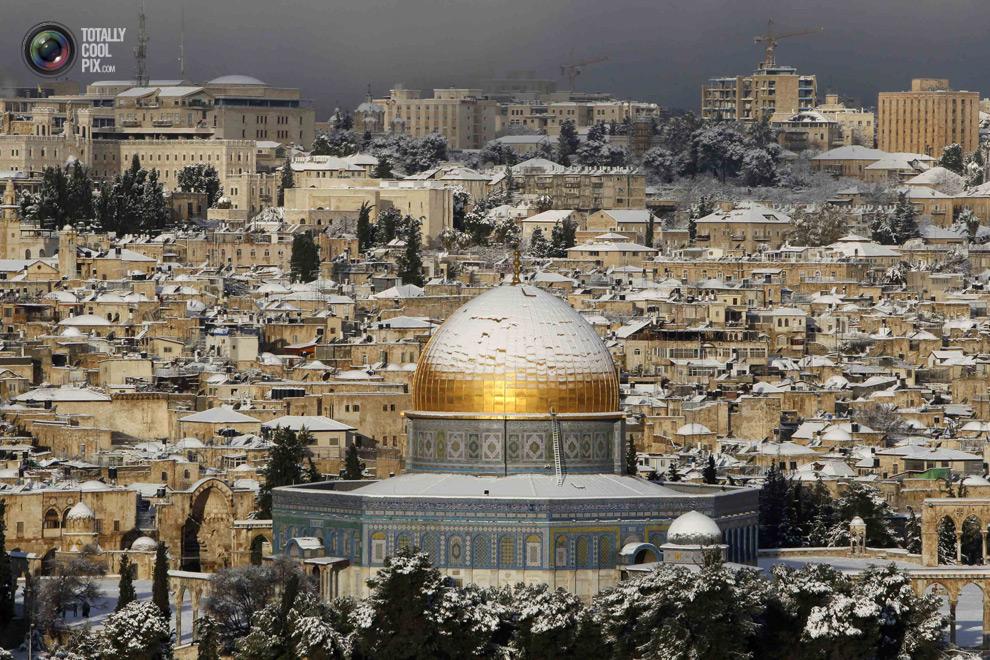 Neve Shalom Israel  city pictures gallery : SHALOM ISRAEL: O ESPECTÁCULO DA NEVE EM JERUSALÉM