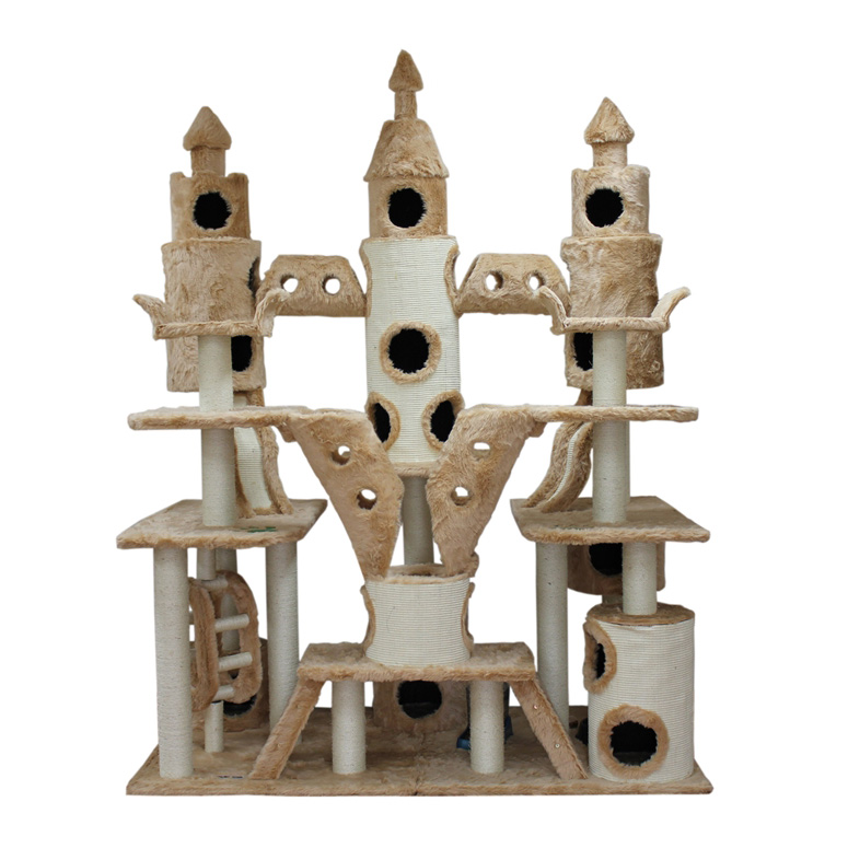 Cat Condo Castle  Tree Tower Scratching Pos