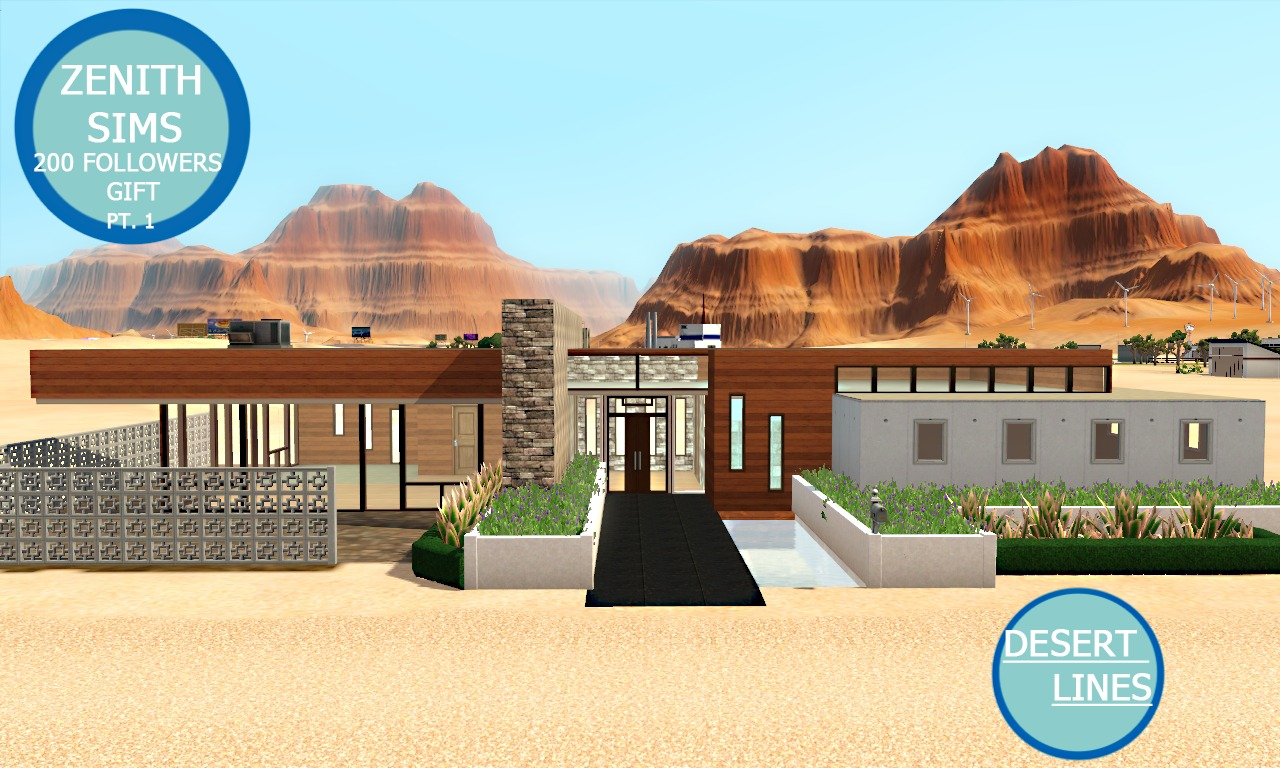 My sims 3 blog modern house by zenith sims for Modern house 3