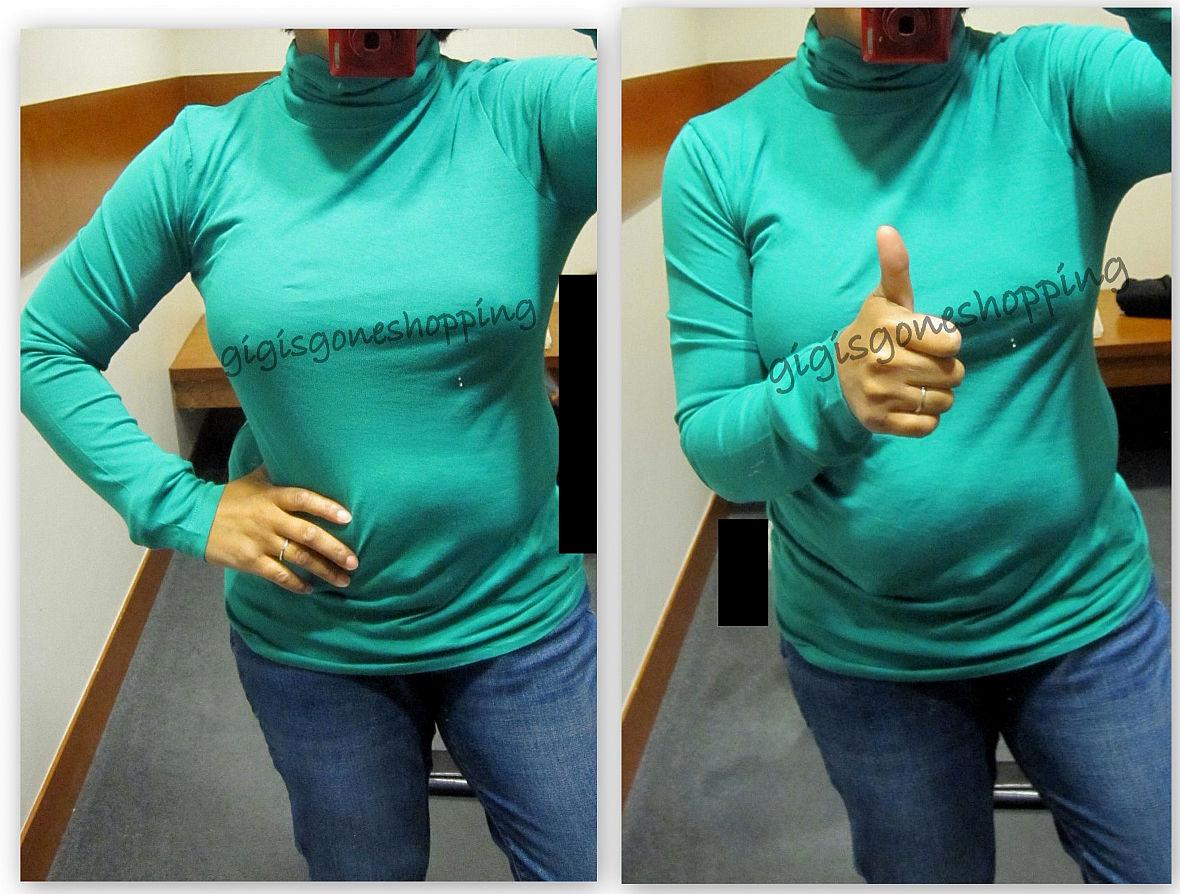 J Crew - tissue turtleneck & stripe merino scarf - Gigi's Gone ...