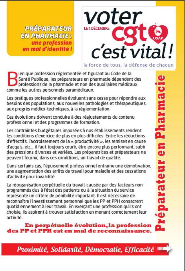 Usap cgt tract specifique preparateur en pharmacie - Grille de salaire preparateur en pharmacie ...