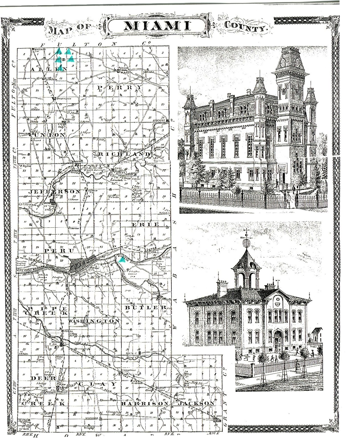 Map Of Indiana Miami Pictures To Pin On Pinterest PinsDaddy - Map of miami county indiana