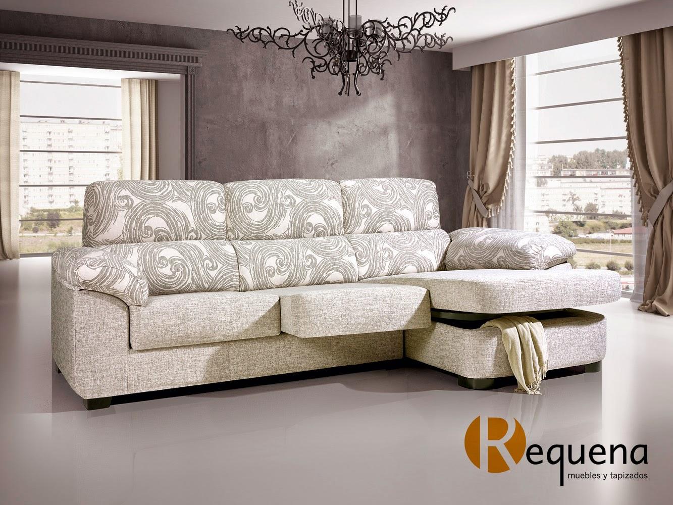 Muebles y tapizados requena liso o estampado c mo - Telas para sofa ...