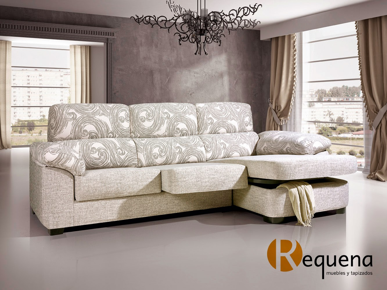 Muebles y tapizados requena liso o estampado c mo - Sofas tapizados en tela ...