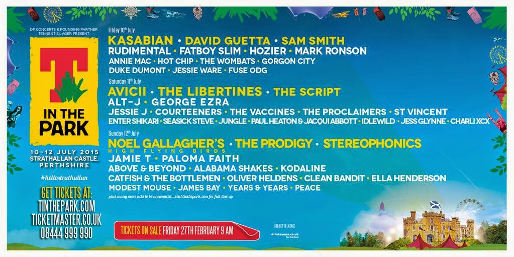 Mark Ronson T in the Park 2015 festival line-up